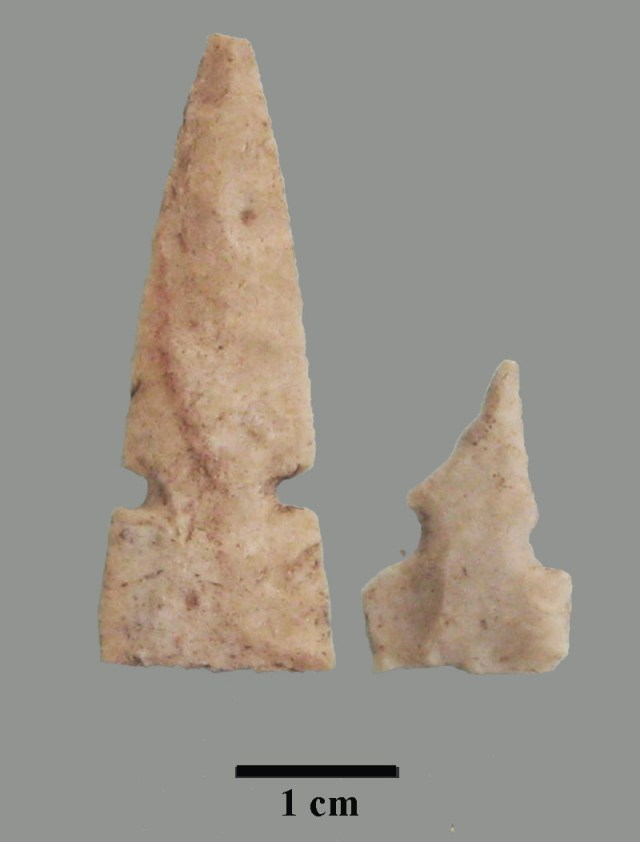 white stone projectile points