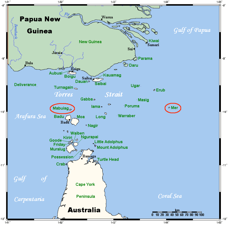 Map of the Torres Strait