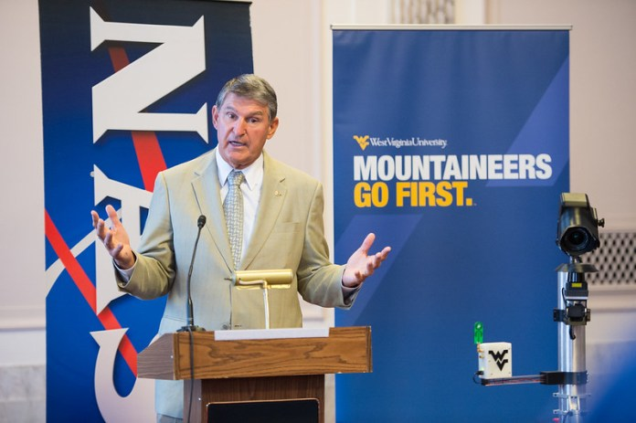 Democratic Sen. Joe Manchin of West Virginia