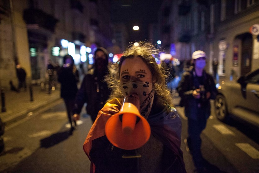 Womans Strike in Warsaw on Nov. 18, 2020
