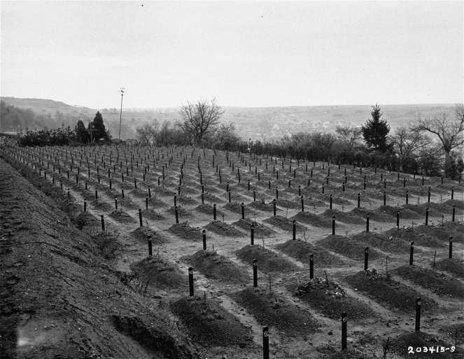 Vista del cementerio del Instituto Hadamar, donde las víctimas del programa de eugenesia nazi y de la eutanasia involuntaria fueron enterradas en fosas comunes. Fuente: Holocaust Memorial Museum