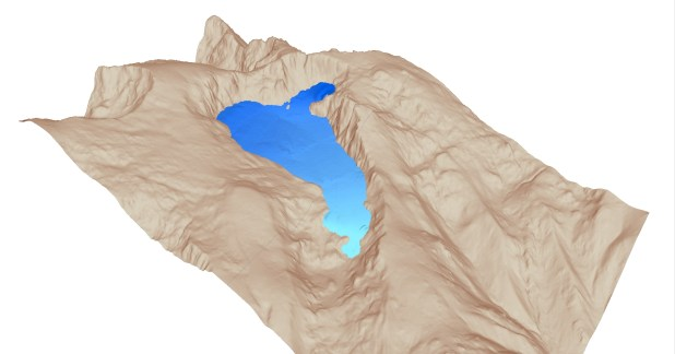 A computer model of a 12,000-year-old glacier in the Iberian peninsula.