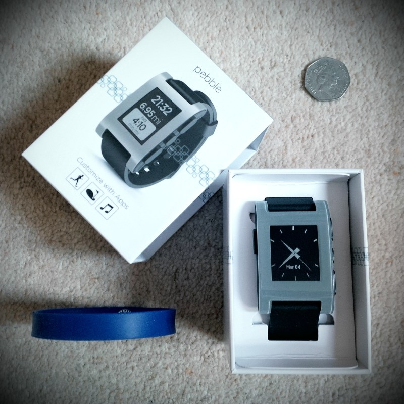 The smartwatch in a box.