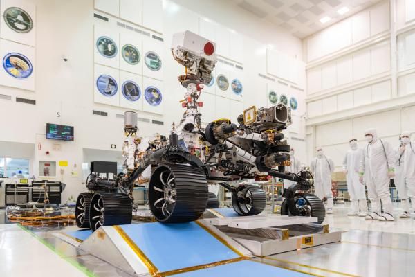 The Perseverance Rover in a NASA lab on earth.
