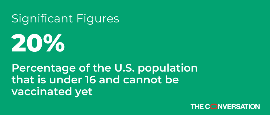 Significant figure: 20% of U.S. population is under 16