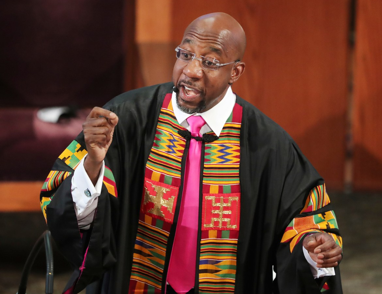 Rev. Raphael Warnock preaches at Ebenezer Baptist Church in Atlanta