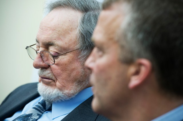 A photo of Rep. Don Young looking thoughtful.