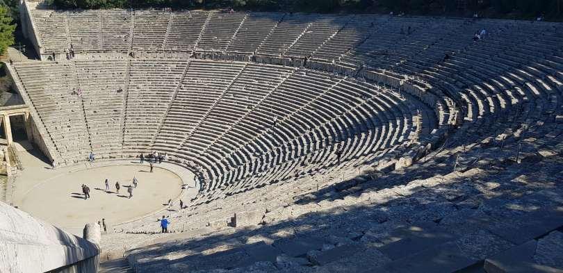Ancient greek outdoor theatre.