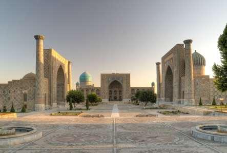 Vue de la ville de Samarkand, Ouzbékistan