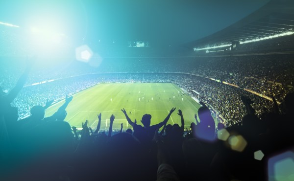 Image of the audience at a football match.
