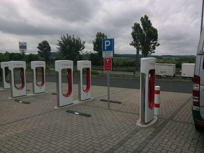 Puntos de recarga de Tesla