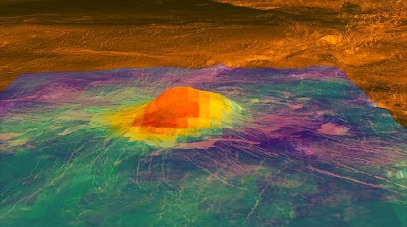 Idunn Mons volcano on Venus.