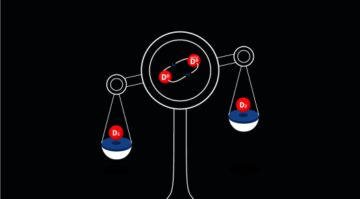 Figure of the D1 and D2 meson.
