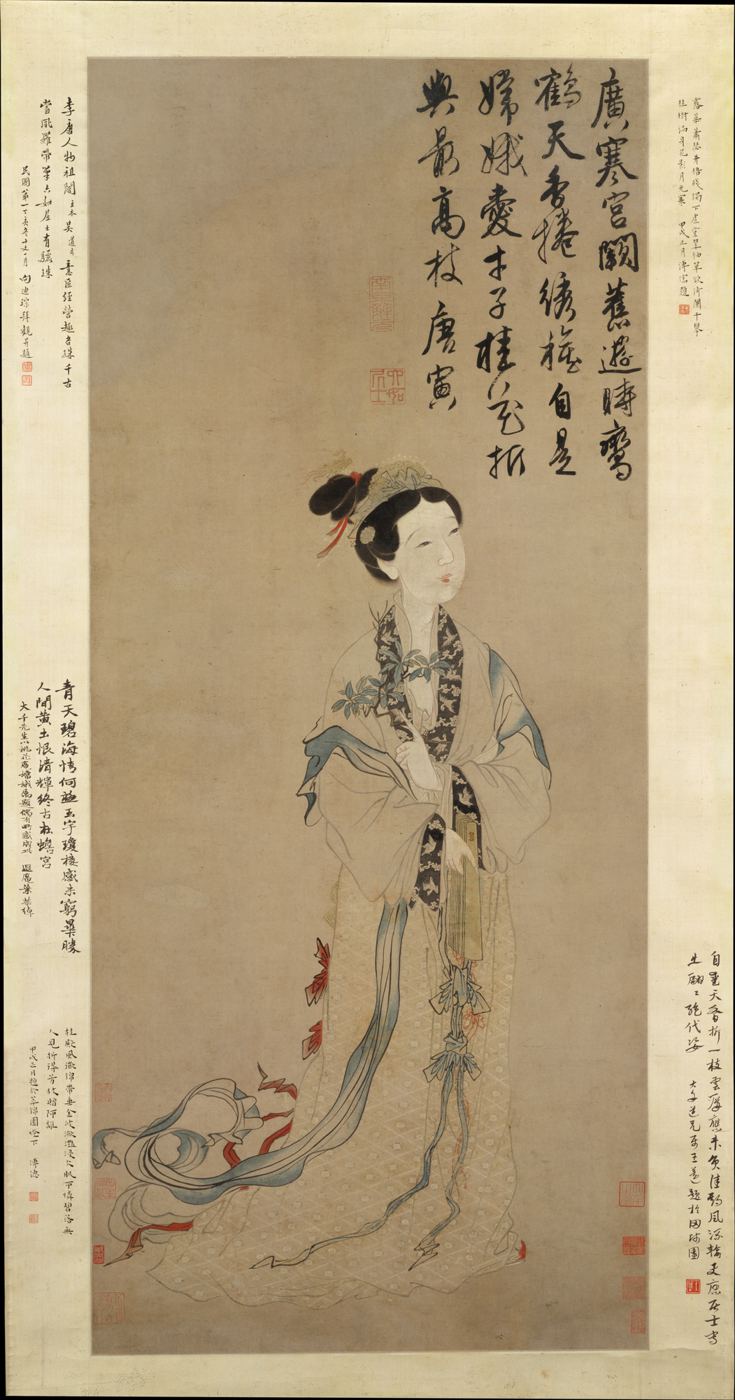 Traditional Chinese painting of the moon goddess Chang'e.