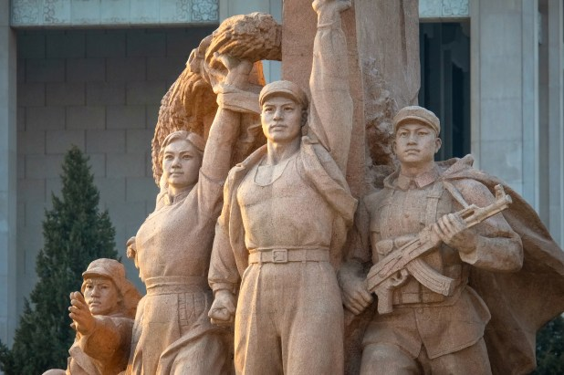 Statue of Mao Zedong at the Memorial Hall of Chairman Mao in Beijing, China.