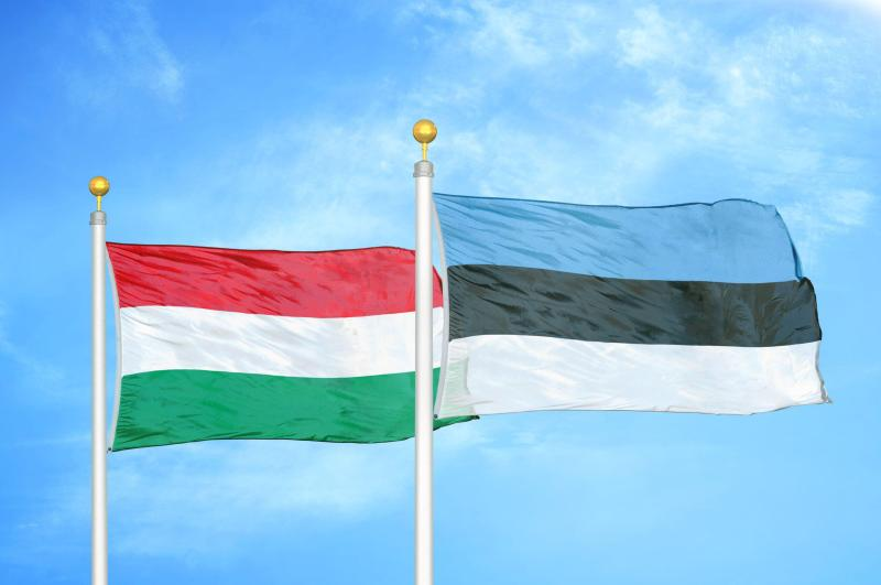 Flags of Hungary and Estonia