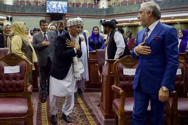 Une réunion au Parlement afghan à Kaboul, le 2août 2021