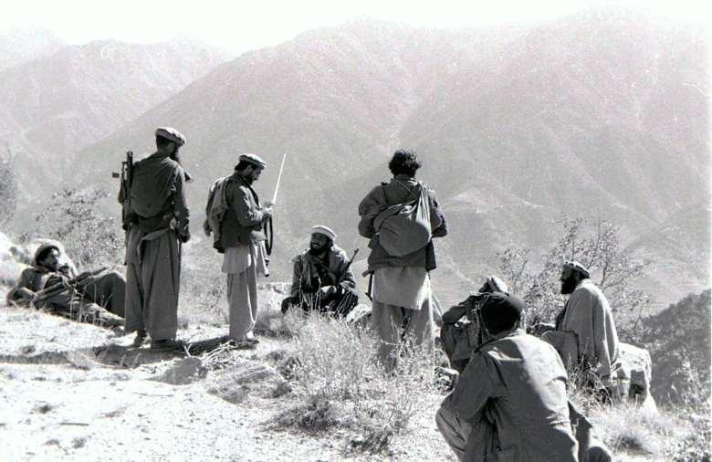 Afghan mujahideen during the Soviet-Afghan War in 1987.