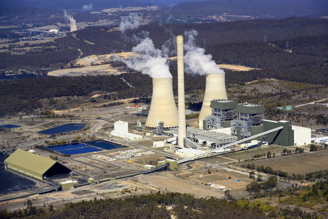 Steam billows from coal plant