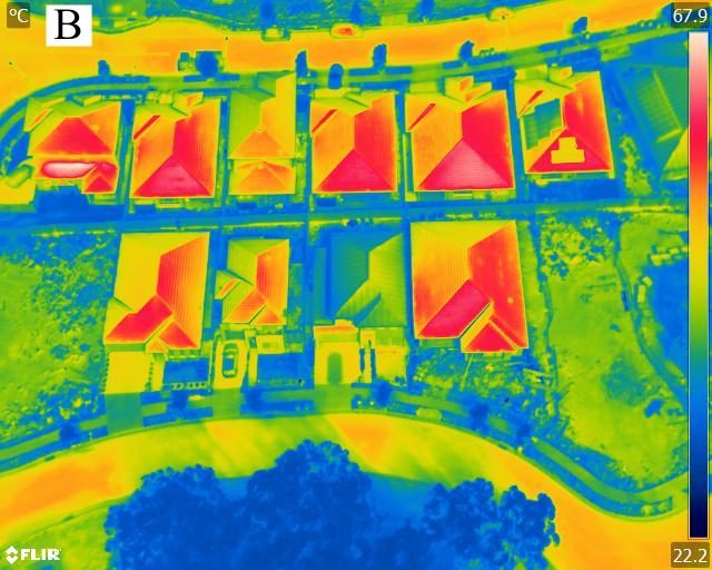 Thermal imagery of roofs