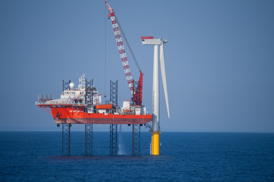 Construction of an offshore turbine