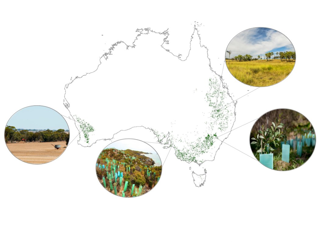 map with circle pullout photos