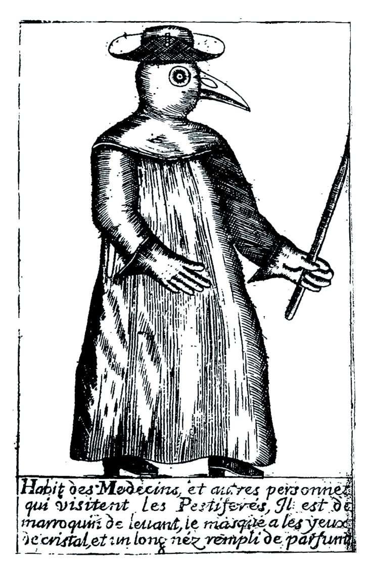 Etching from Jean-Jacques Manget 'Traite de la peste' 1721.