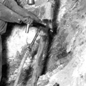 Main working level of Gunsite Mine.