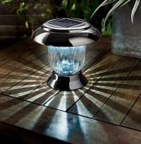 Nickel Black Post or Table Solar Light - The Garden Factory