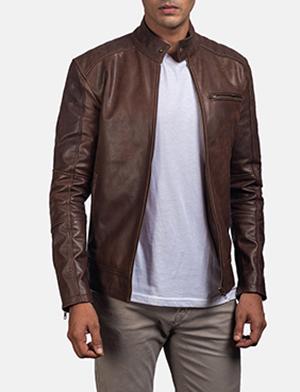 dean brown leather biker