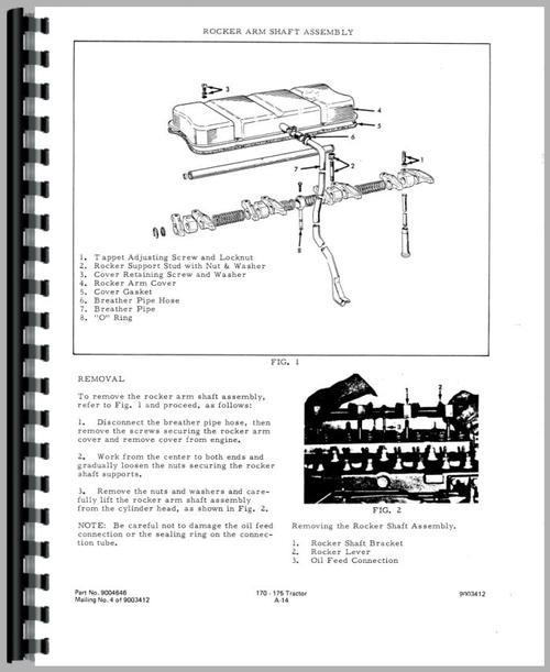 Allis Chalmers 175 Tractor Service Manual