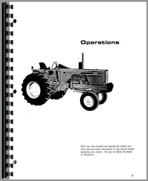 Allis Chalmers 185 Tractor Operators Manual