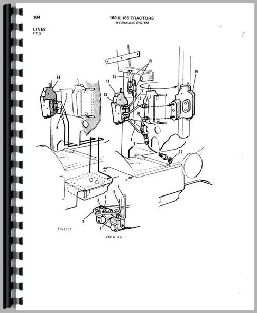Allis Chalmers 185 Tractor Parts Manual