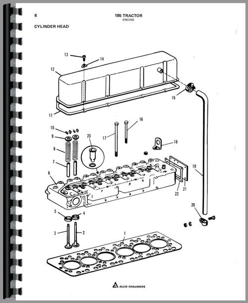 Allis Chalmers 185 Tractor Parts Manual