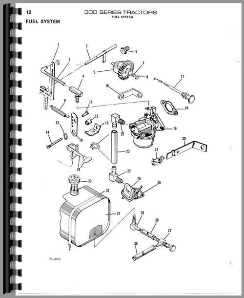 Allis Chalmers 314 Lawn & Garden Tractor Parts Manual