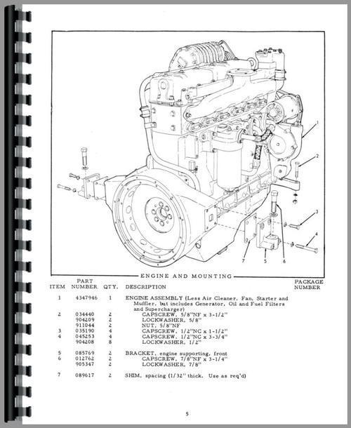 Allis Chalmers 45 Motor Grader Parts Manual