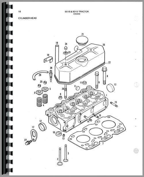 Allis Chalmers 5015 Tractor Parts Manual