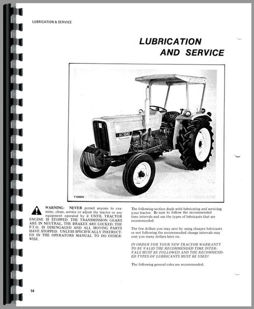 Allis Chalmers 5040 Tractor Operators Manual
