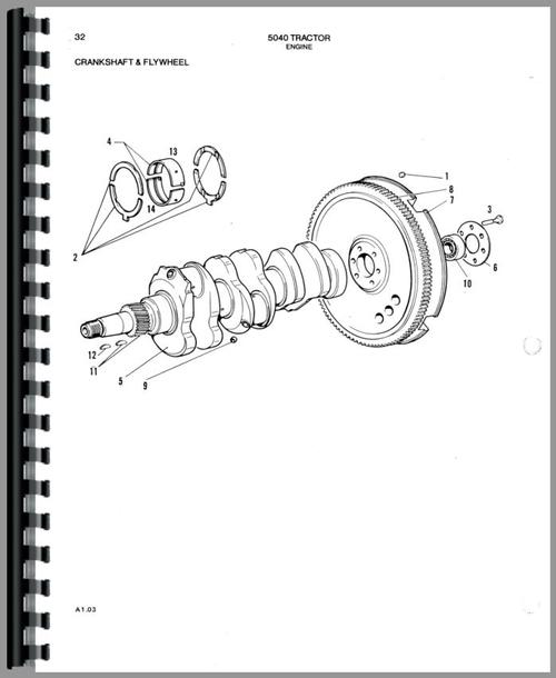 Allis Chalmers 5040 Tractor Parts Manual