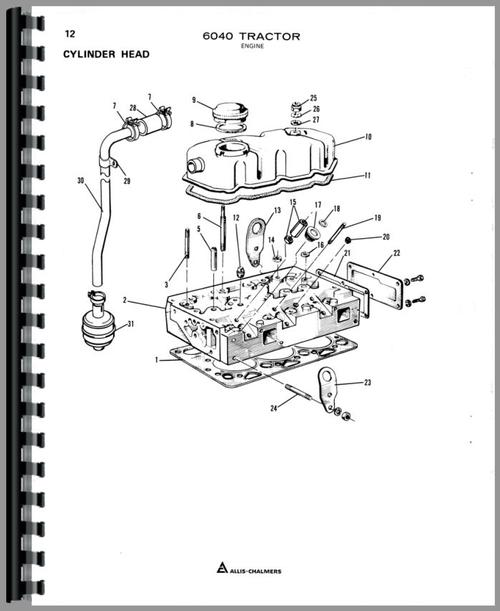 Allis Chalmers 6040 Tractor Parts Manual