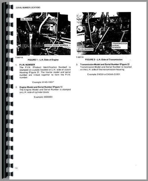 Allis Chalmers 6140 Tractor Operators Manual