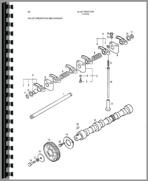 Allis Chalmers 6140 Tractor Parts Manual