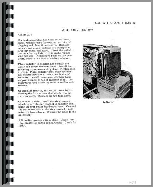 Allis Chalmers 615 Tractor Loader Backhoe Service Manual