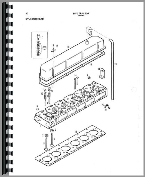 Allis Chalmers 8070 Tractor Parts Manual