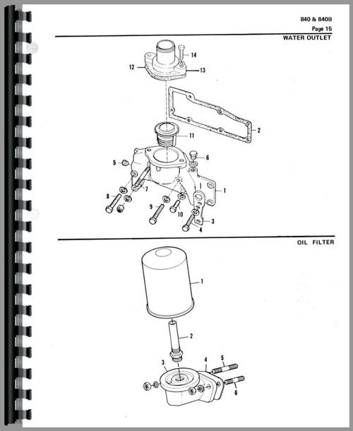 Allis Chalmers 840B Wheel Loader Parts Manual