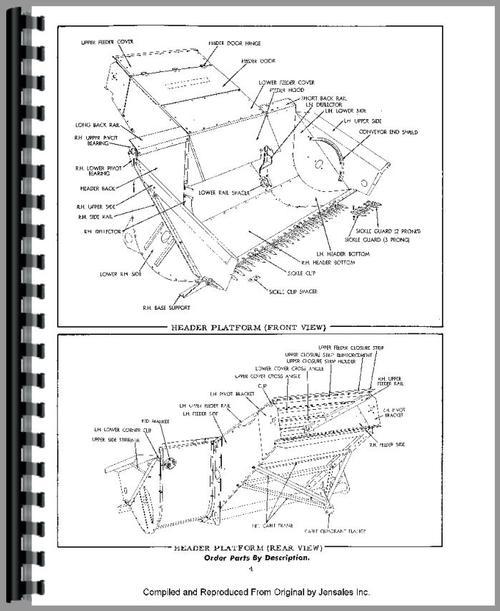 Allis Chalmers 90 Combine Parts Manual