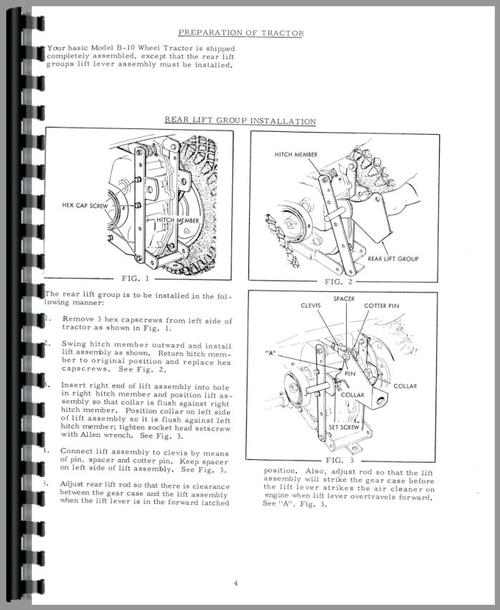 Allis Chalmers B-10 Lawn & Garden Tractor Operators Manual