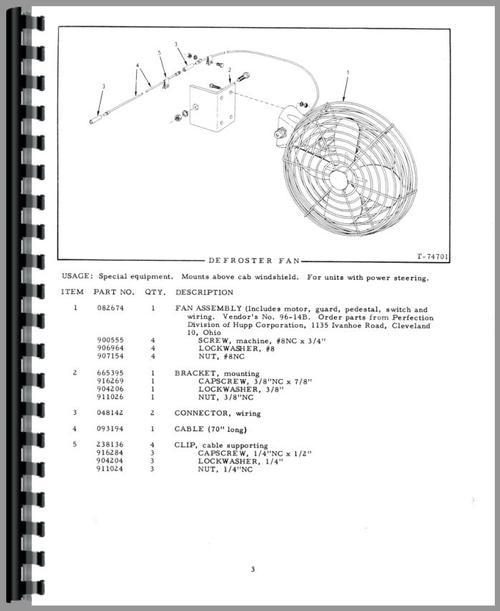 Allis Chalmers D Motor Grader Parts Manual