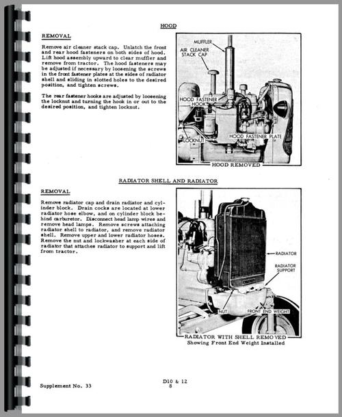 Allis Chalmers D10 Tractor Service Manual