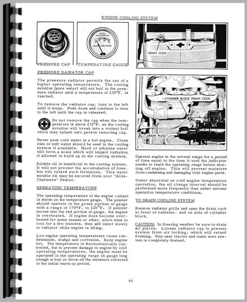Allis Chalmers D15 Tractor Operators Manual